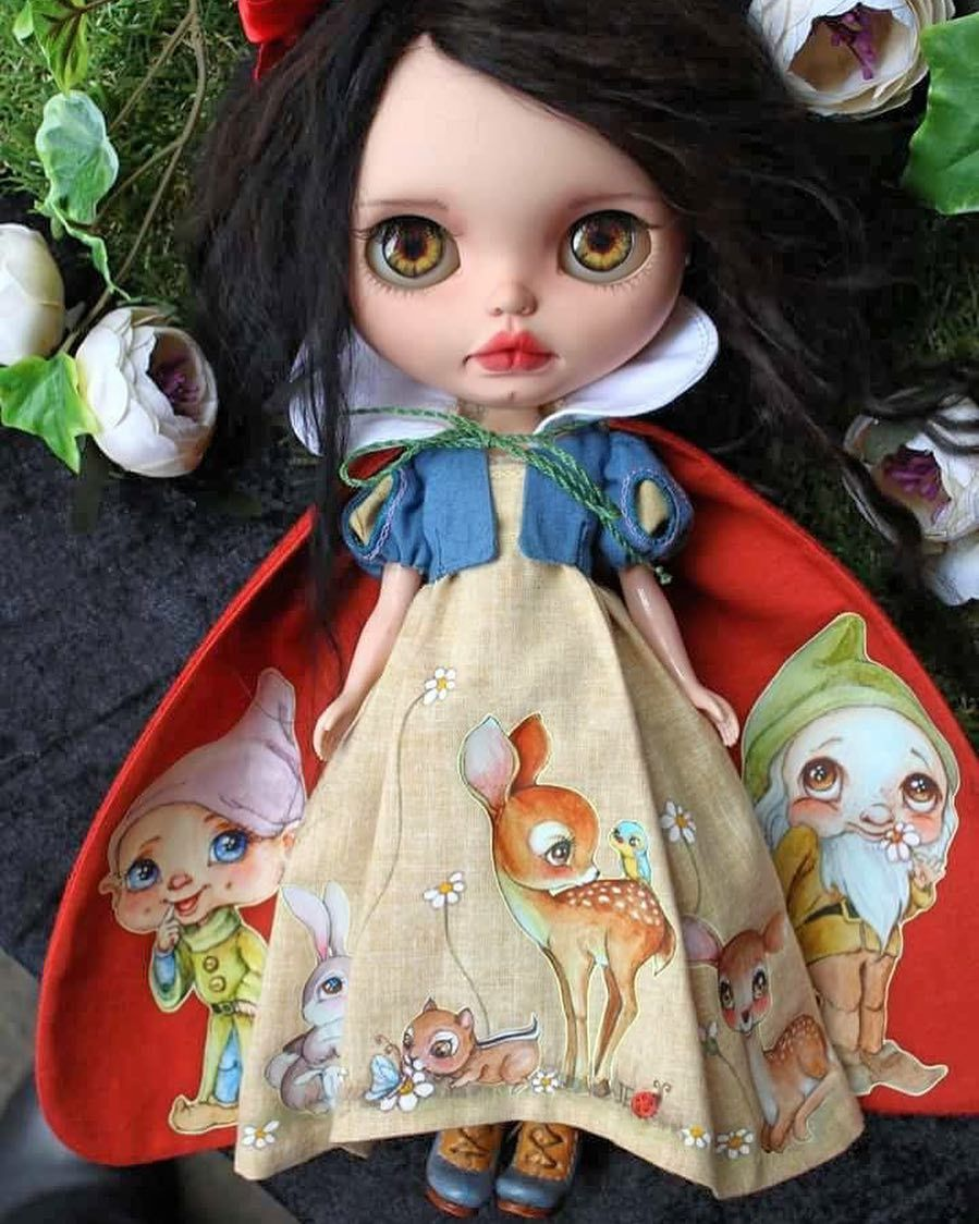 Outfit Clothing costume Handmade layers Dress for Blythe doll 820-52
