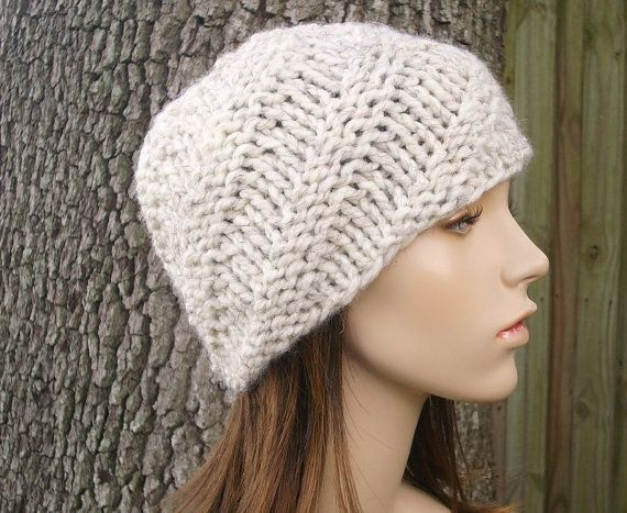 Knit Hat Womens Hat Swirl Beanie Wheat Cream Knit Hat Wheat Hat