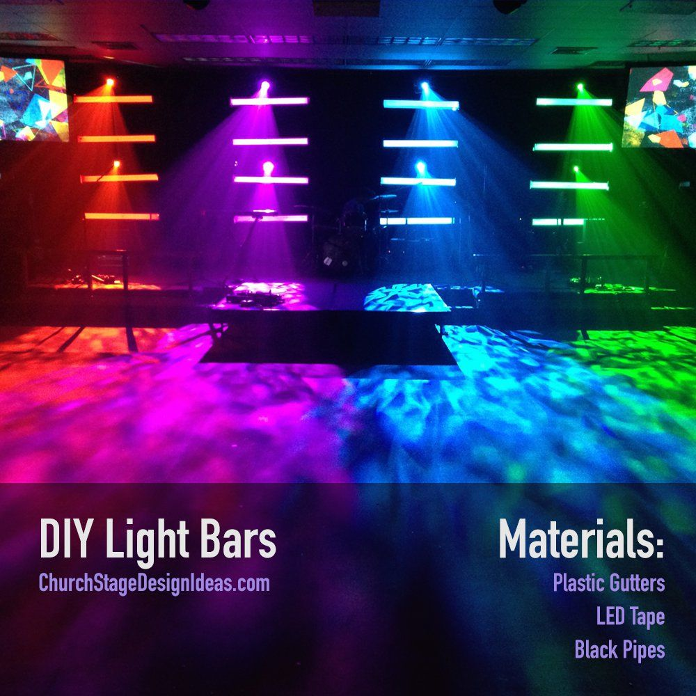 diy light bars church stage design