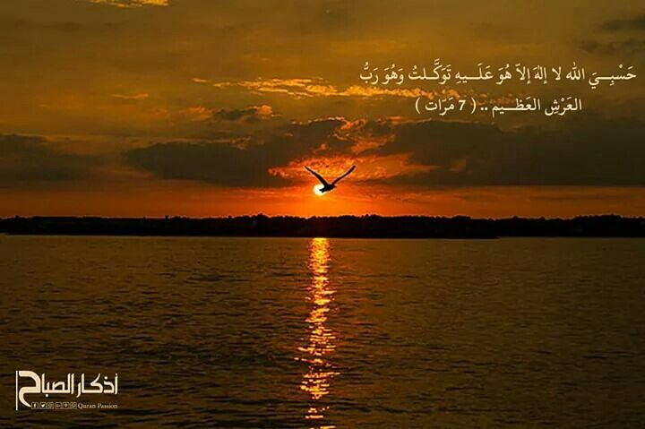حسبي الله لا اله الا هو عليه توكلت وهو رب العرش العظيم 7 مرات اذكار الصباح Quran Islam Life