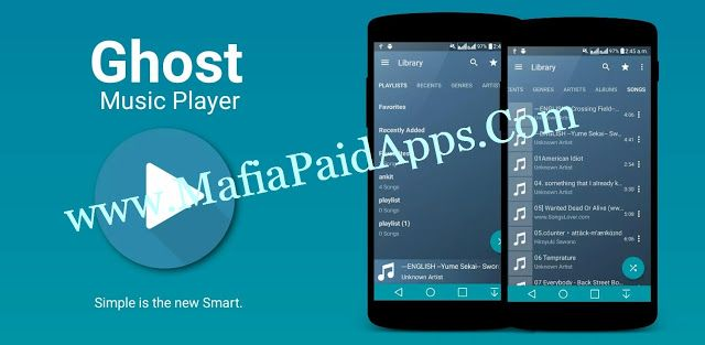 Ghost Music Player Pro v1 3 Apk Ghost Music Player (Music