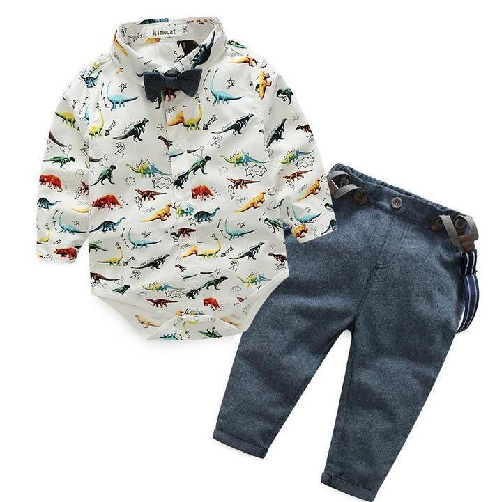 6f92adc0c Baby Boys Clothing Set with Dinosaurs | Han and Orabelle | Baby ...