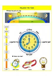 english worksheet telling the time introduction part i learning tools pinterest. Black Bedroom Furniture Sets. Home Design Ideas