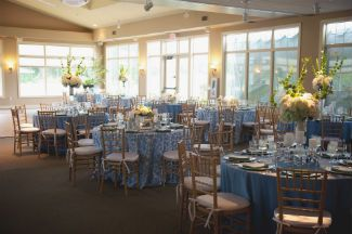 Wedding GuestRoom Tables Flowers At Lincoln Hills Golf Course In Ludington
