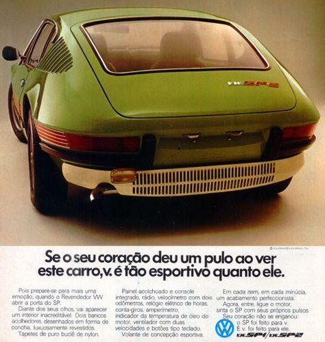 VW SP2 Ad (brazilian Sport Car) #vwbrasilia