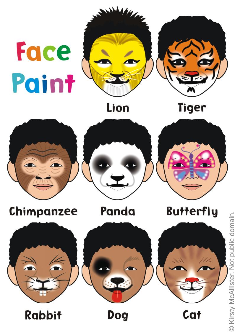 Face Painting Animals Png 795 1120 Face Painting Face Painting Halloween Animal Face Paintings