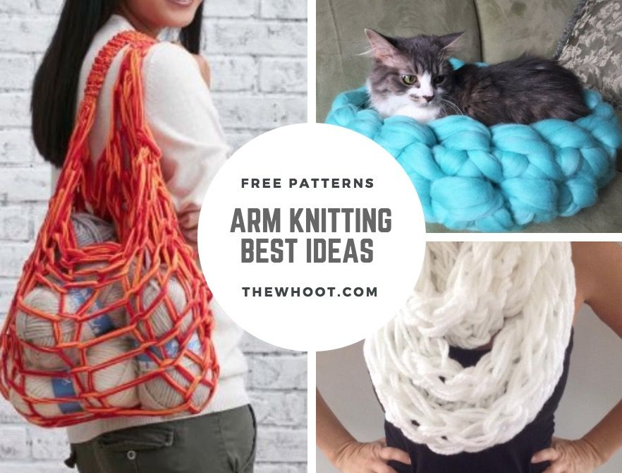 Arm Knitting Pattern Easy Video Instructions Lots Of Ideas