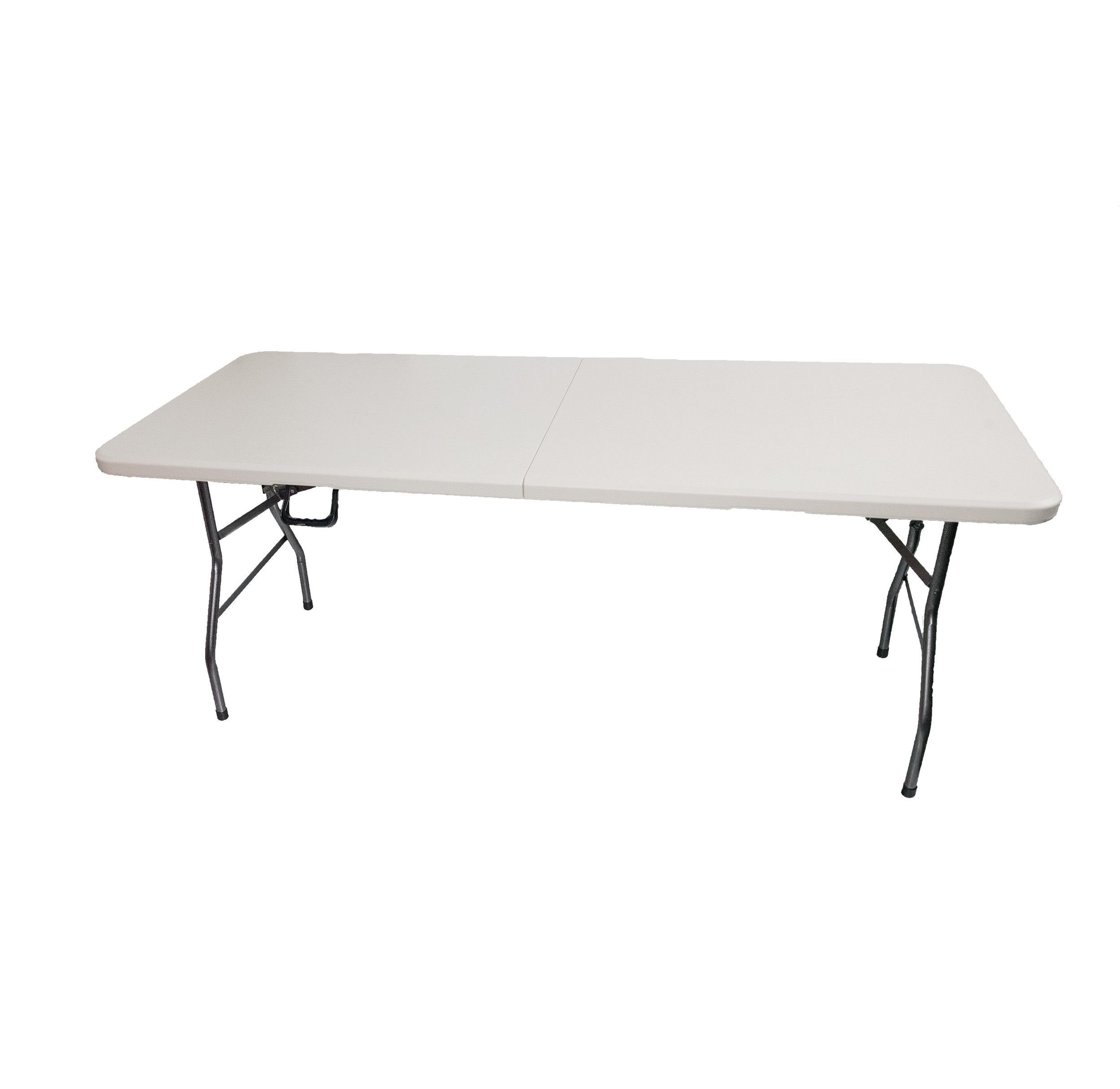 6 Feet Wide Portable Folding Table Lightweight W Built In Carry Handle Commercial Grade Collapsible Steel Legs Hdpe Plast Folding Table Table Plastic Tables