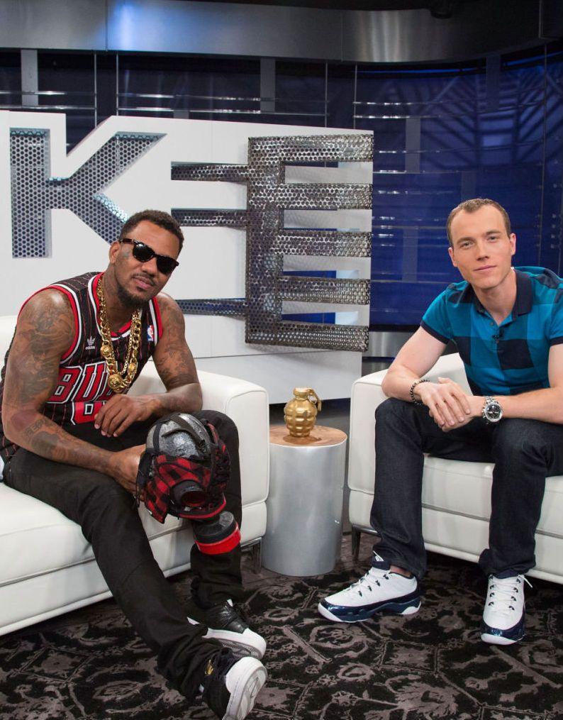 6836174d231a89 The Game wearing adidas Originals Superstar  DJ Skee wearing Air Jordan IX  9 Low Retro Pearl