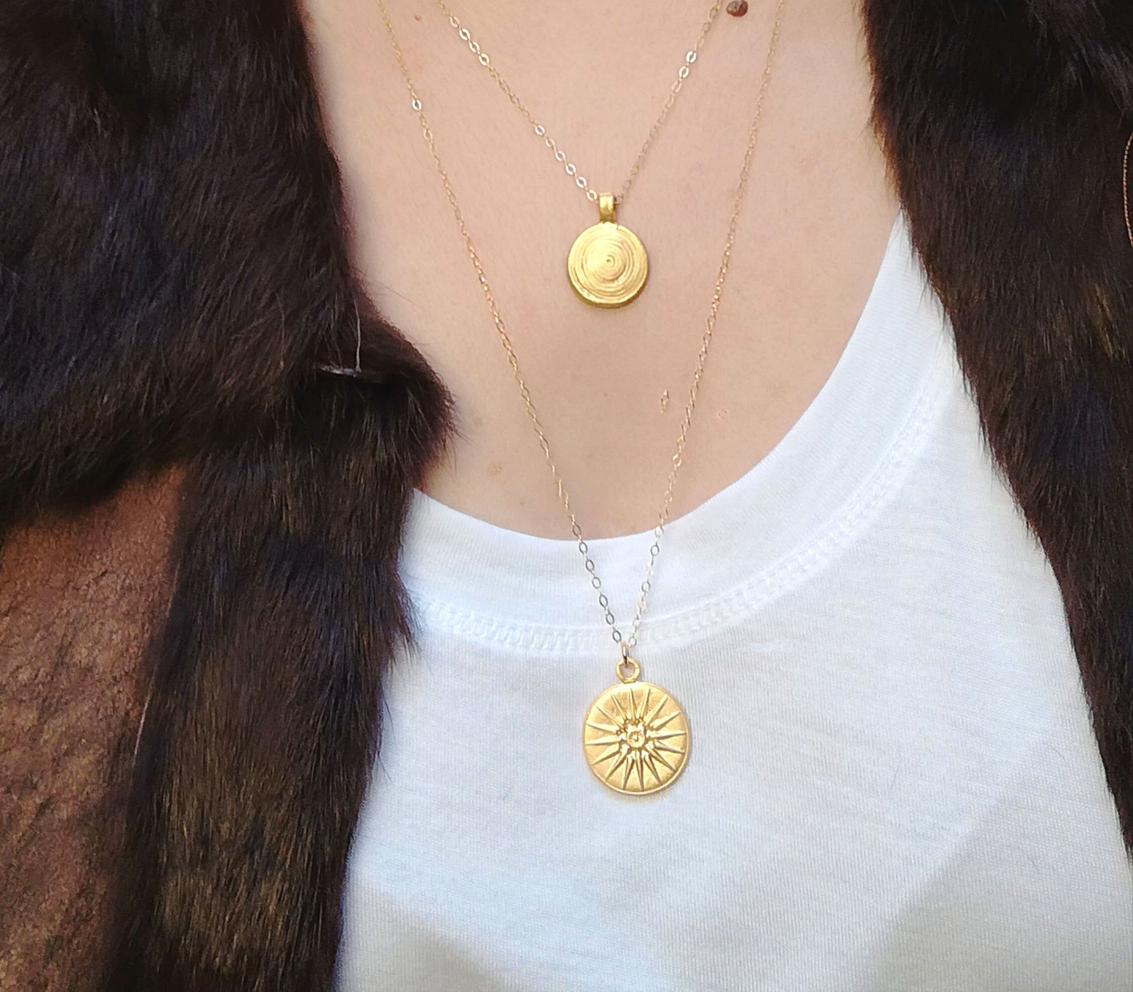 The Favorite M Coin Necklace