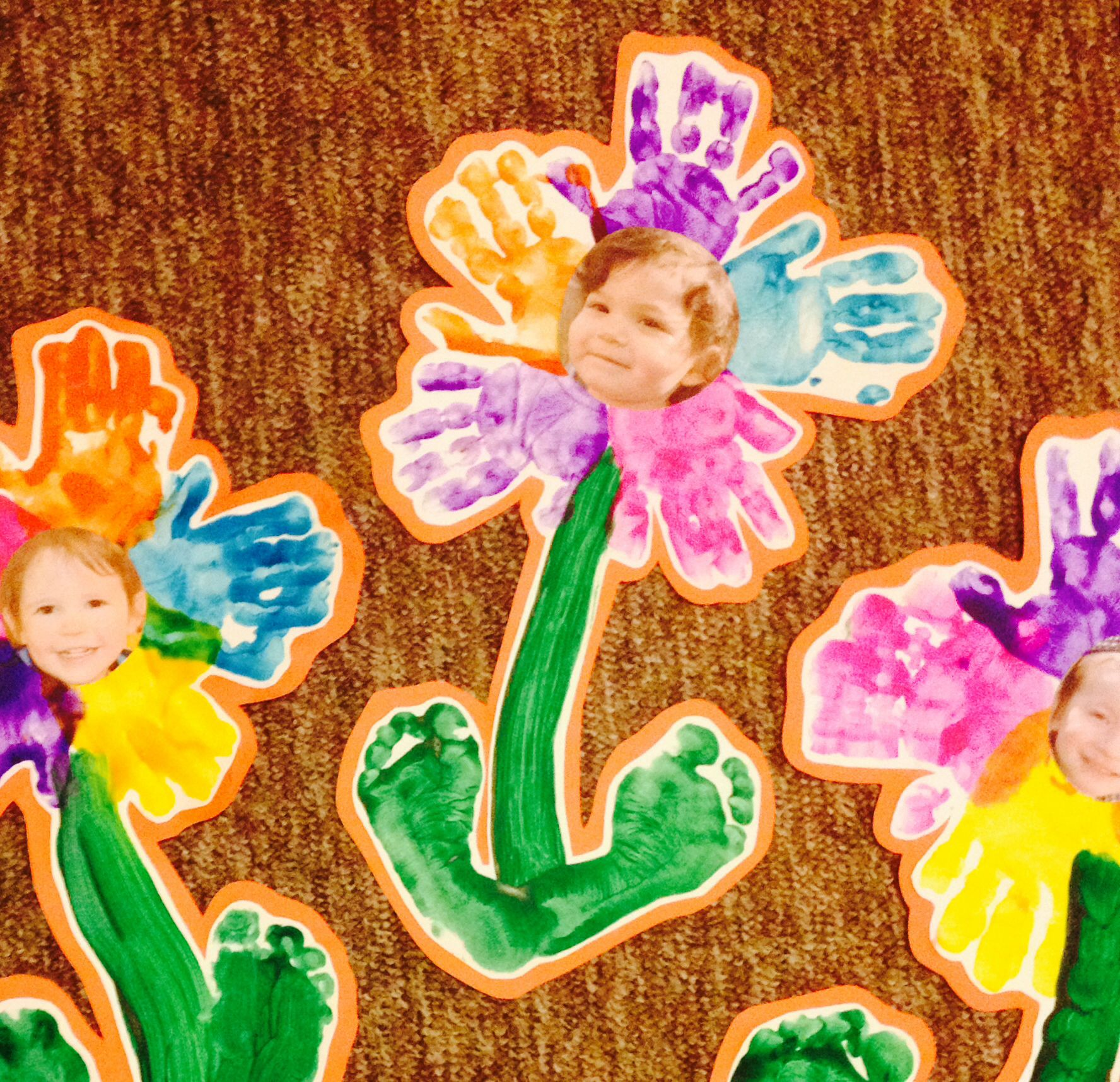mother day craft ideas for 2 year olds preschool flower project handprints footprints flower 8217