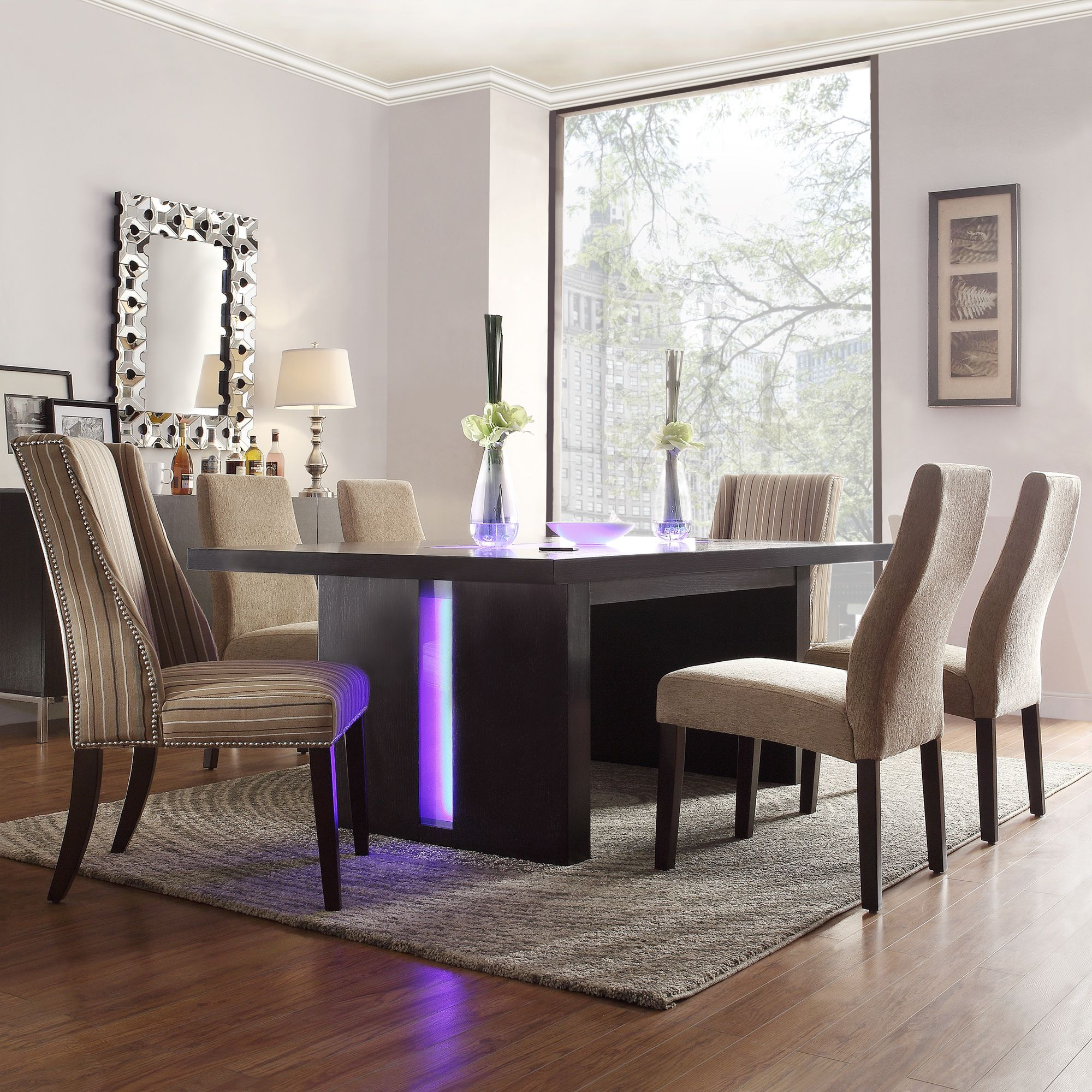 Every contemporary dining area needs an innovative dining set. Including a  table and six comfortable