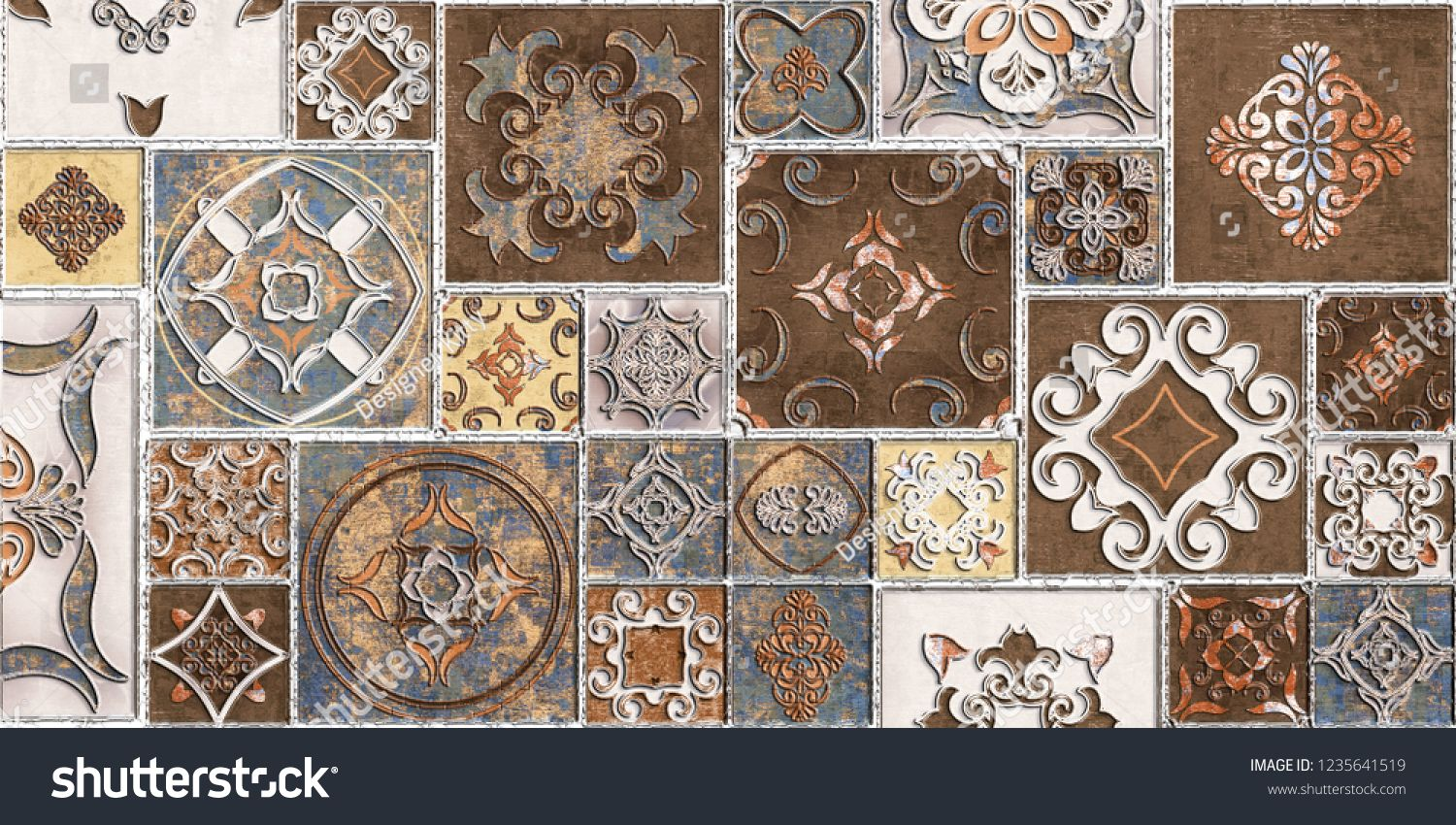 Random Wall Tiles Design Or Brown Colored Wall Tiles Decor For Home Or Wall Decor On Brown Beige Marble Design Wall Tiles Design Decorative Tile Beige Marble