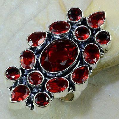 223955016f2 Gr 0113a bague t57 grenat mozambique achat vente bijou argent 925 ...