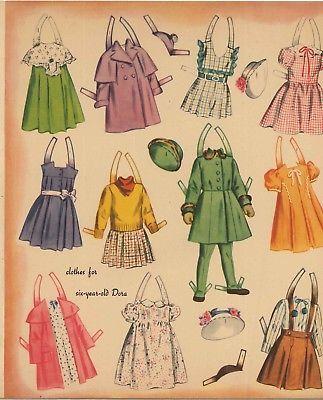 1 Set 1958 Betsy McCall /& Linda Paper Dolls Uncut Unused Orignal Vintage