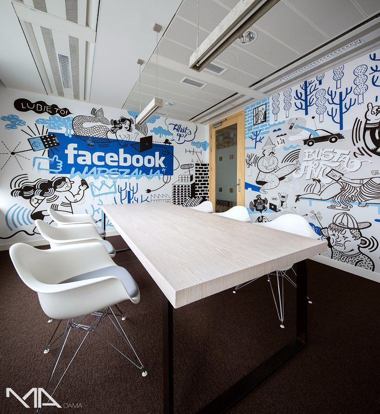 facebook home office. Facebook HQ Office, Warsaw, Poland. Social Media Large Company Home Office