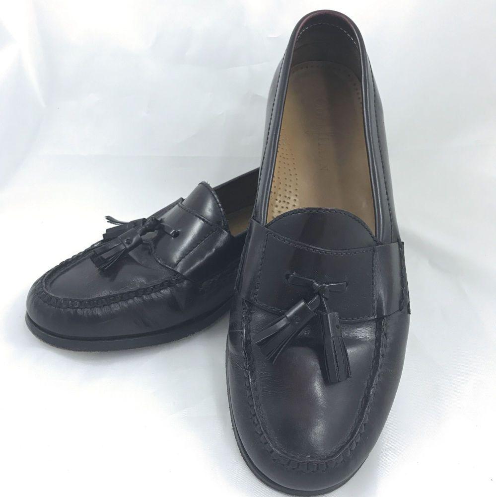 69e8cb0325c COLE HAAN Mens Pinch Tassel Loafers Burgundy Size 10.5 E Shoes  ColeHaan   LoafersSlipOns