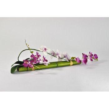 Decoration De Table Socle En Bambou Et Fleurs