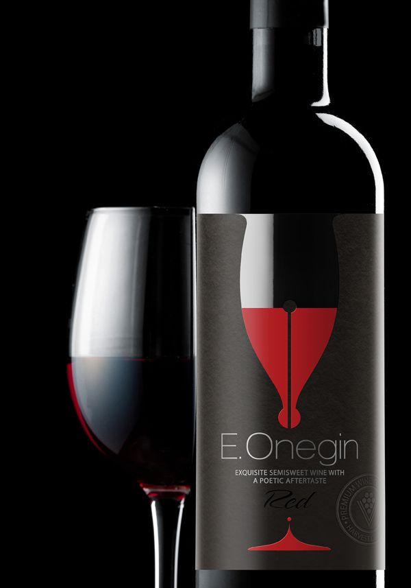 Вино E.Onegin | Упаковка вина, Дизайн этикеток для вина ...