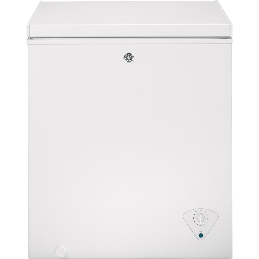 Ge Garage Ready 5 Cu Ft Manual Defrost Chest Freezer White