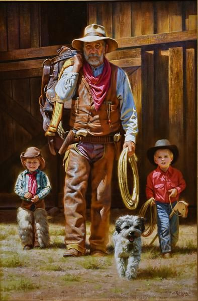 Cowboys in Training by Alfredo Rodriguez #cowboysandcowgirls
