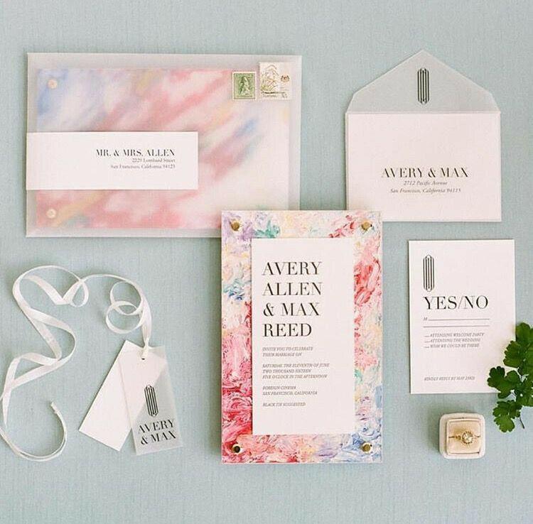 40 Watercolor Wedding Invitation Ideas You Will