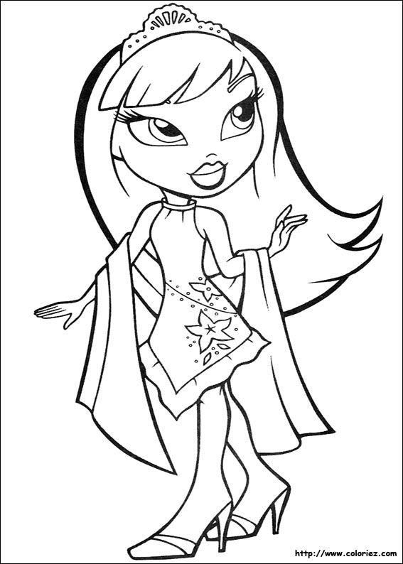 Coloriage Bratz Cartoon Coloring Pages Princess Coloring Pages Coloring Pictures