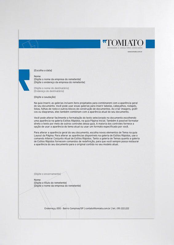Identidade Visual Tomiato Advogados by Camila Janaina, via Behance