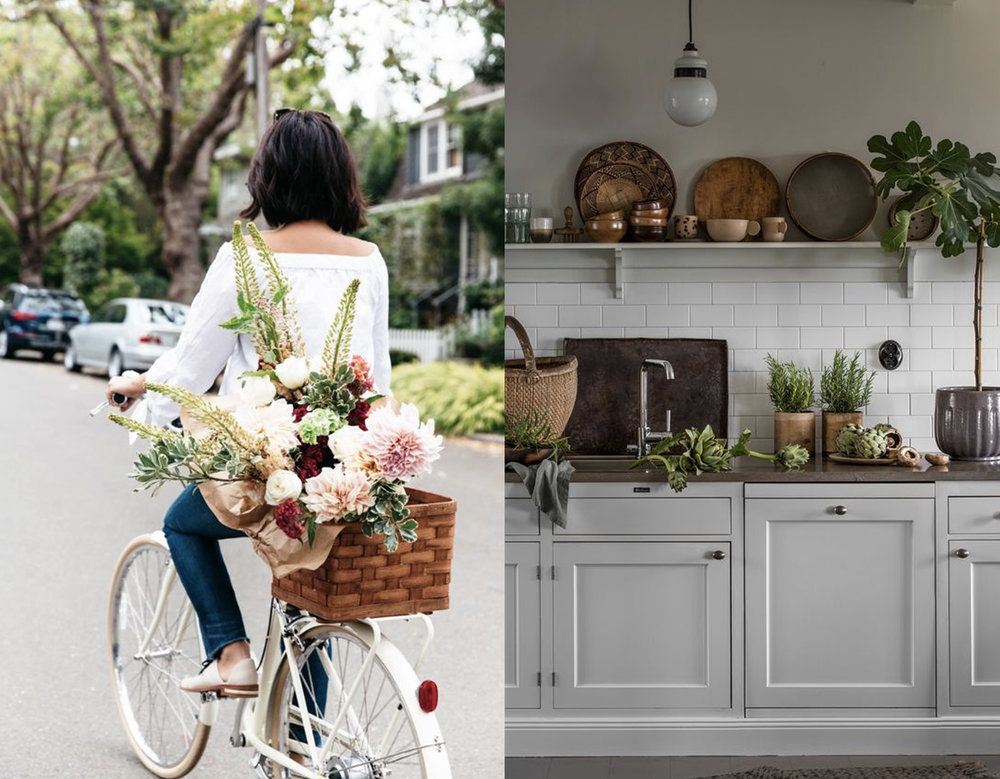 flower girl via  Honestly WTF  - green in the kitchen via  Landliv
