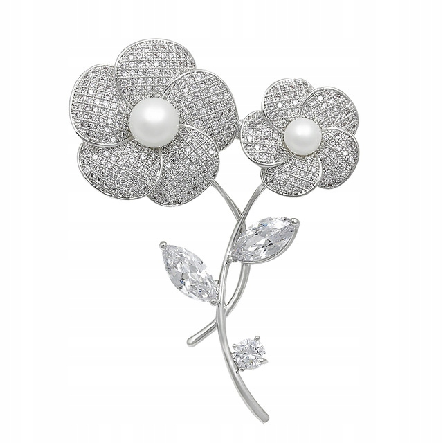 Lux Broszka Kwiaty Galazka Pozlacana Pudelko 8571046254 Oficjalne Archiwum Allegro Crystal Copper Jewelry Sets Flower Brooch