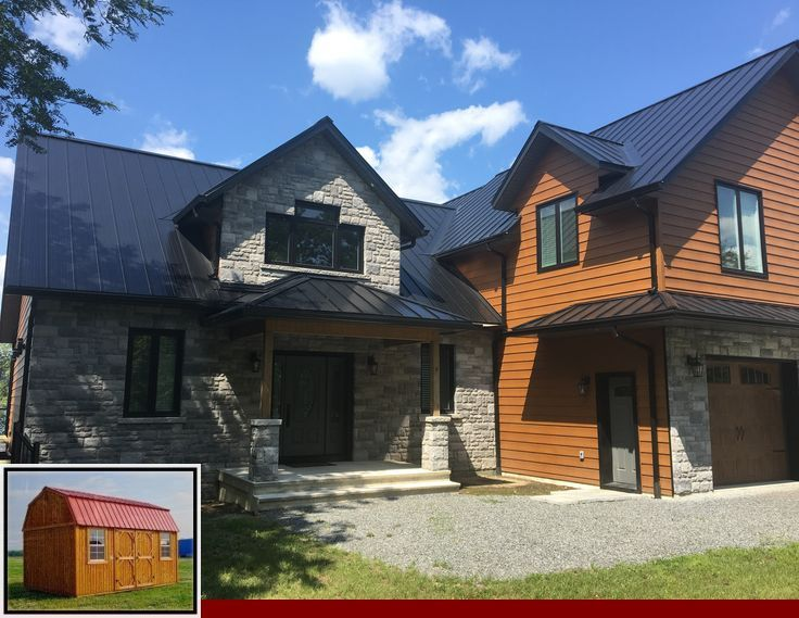 Best Metal Roof Color For Brown House And Metal Roof And 400 x 300