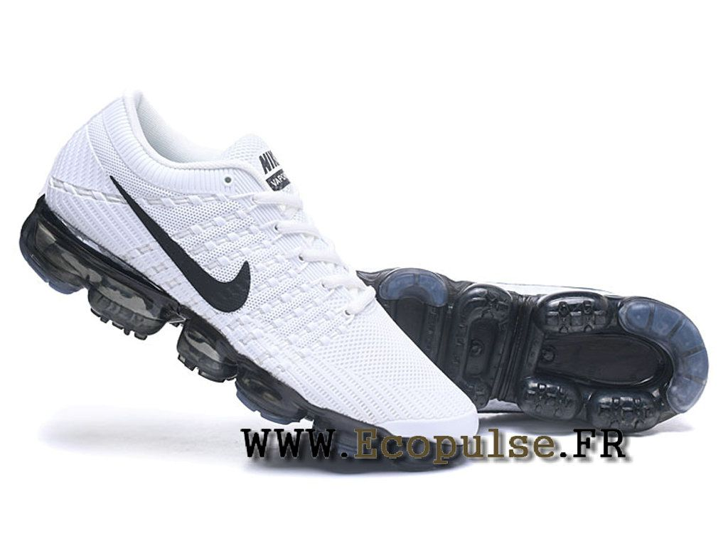 finest selection 56e15 98311 Nike Air VaporMax 2018 Flyknit - Coussin paume Running Chaussures Pour  Homme Blanc   noir