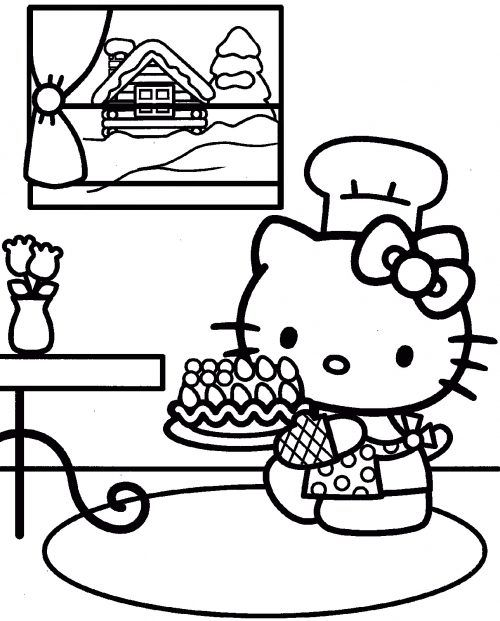 This Is One Of My Favorite Coloring Pages Featured With The Picture Hello Kitty
