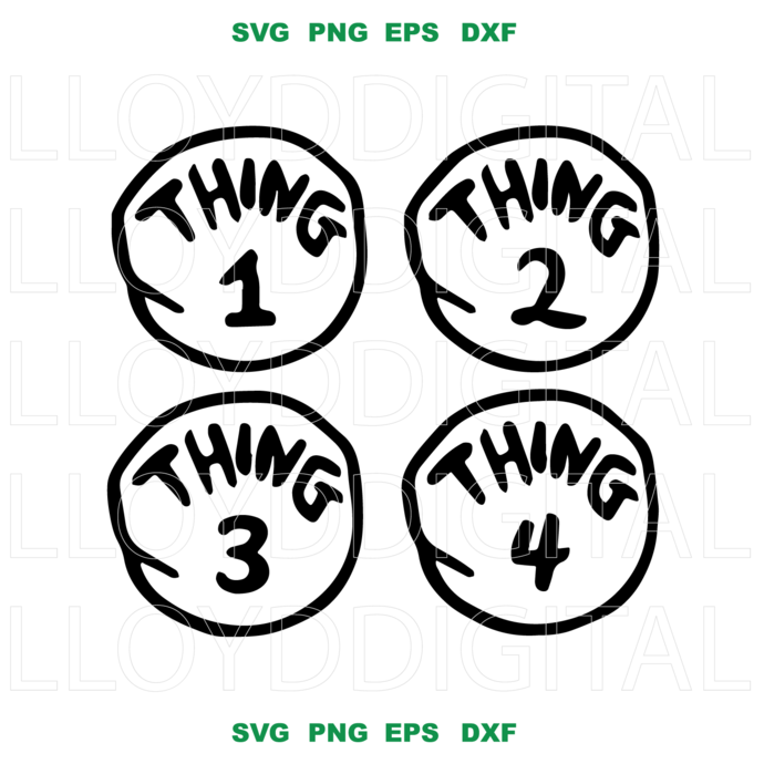 Thing 1 And Thing 2 On We Heart It Thing One Thing Two Cat In The Hat Party Cricut Projects Vinyl