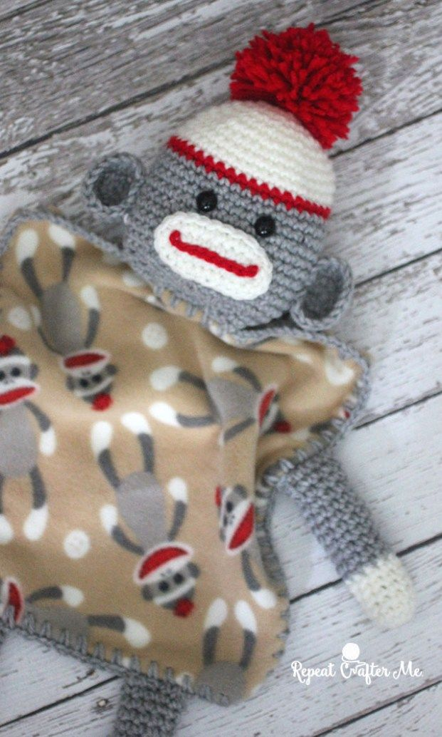 Sock Monkey Lovey | Crochet Blankets | Pinterest