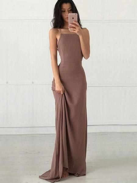 New Arrival Spaghetti Straps Fashion Charming Simple Cocktail Prom Dresses Online,PD0154 #simplecocktail
