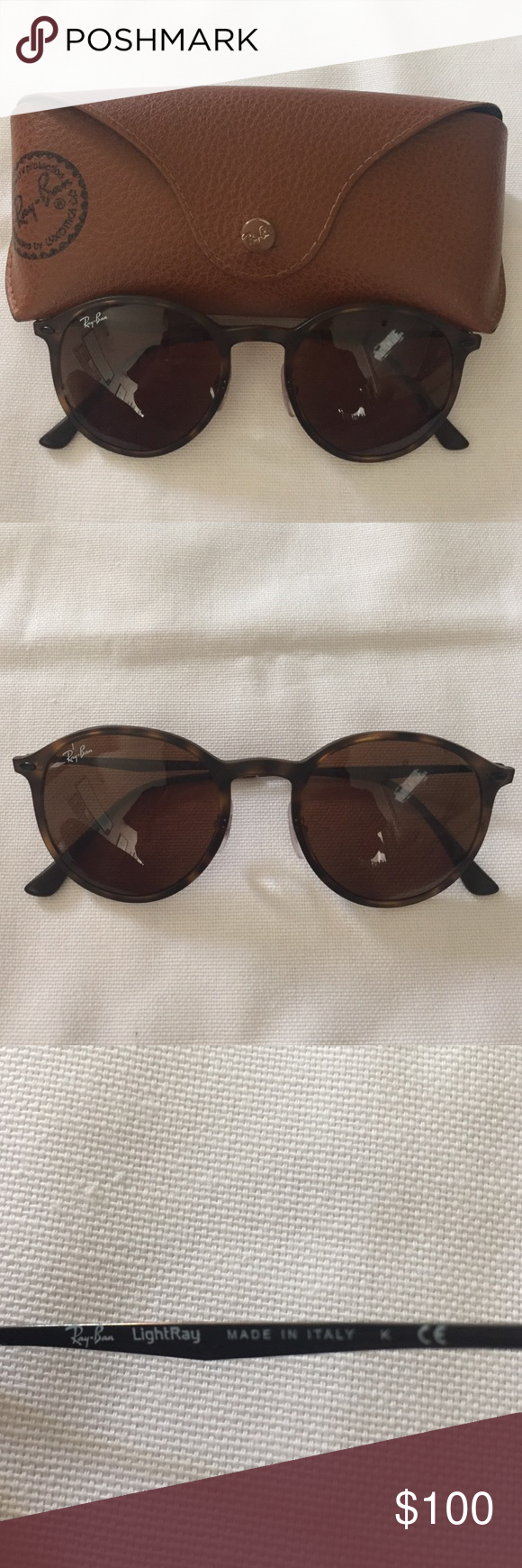 Authentic Ray-Ban 4224 Worn once - no scratches. In the color LightRay. RB 4224 894/73 49-20. Comes with case. No trades. Ray-Ban Accessories Sunglasses