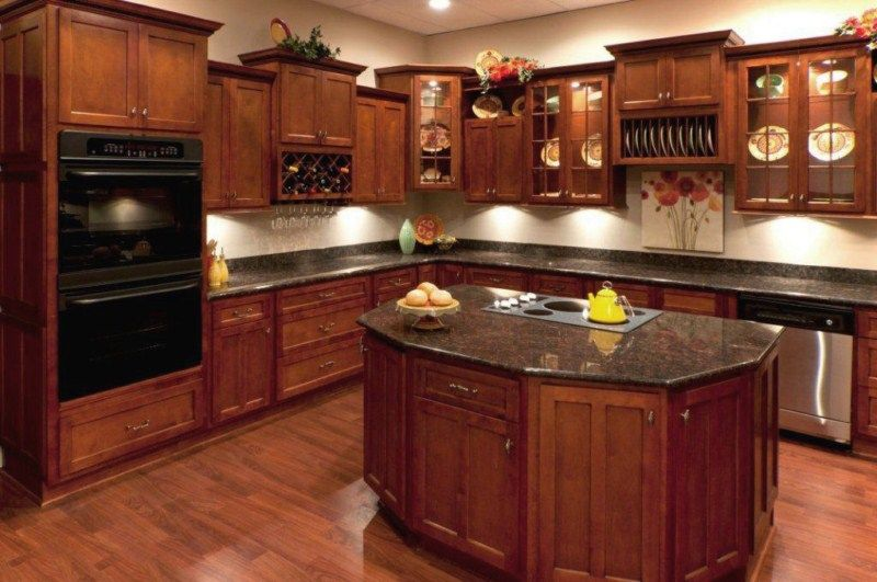 natural cherry wood kitchen cabinets natural cherry shaker