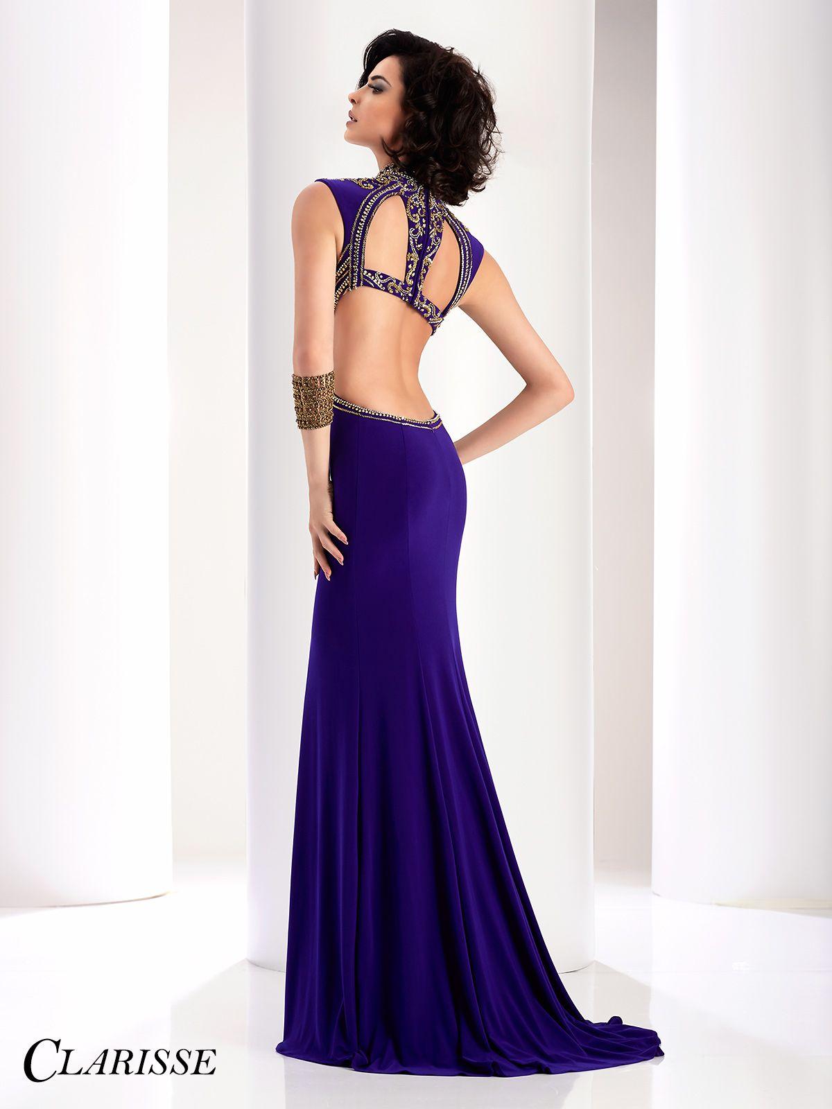 Clarisse Purple and Gold Cutout Prom Dress 4834 | Pinterest ...