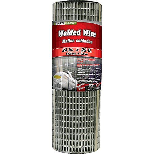 Yardgard 309312a 24 Inch By 25 Foot 16 Gauge 1 Inch By 1 Inch Mesh Galvanized Welded Wire Wire Baskets Basket Lighting Mesh Fencing