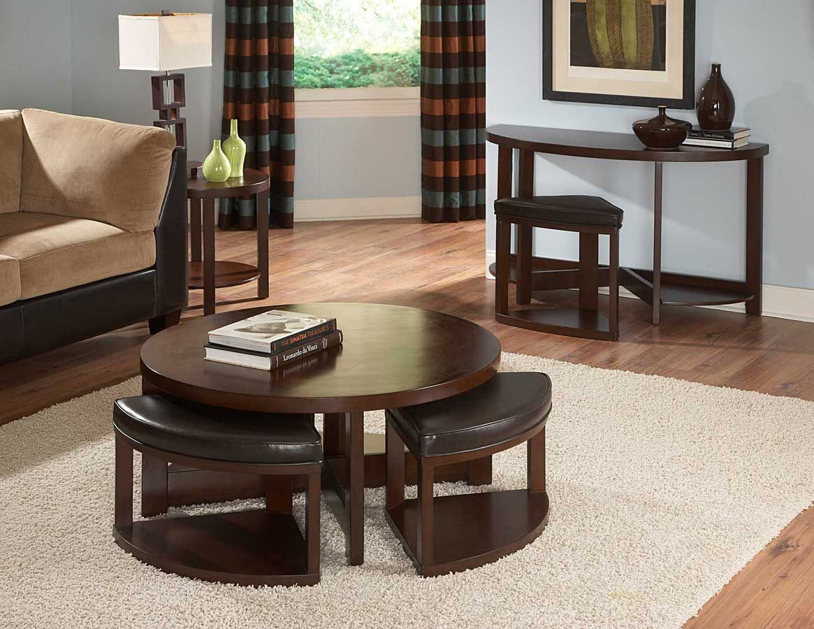 Pin By Homelement Furniture On Homelegance Vincent Collection Round Coffee Table Modern Storage Ottoman Coffee Table Brown Coffee Table [ 900 x 1165 Pixel ]