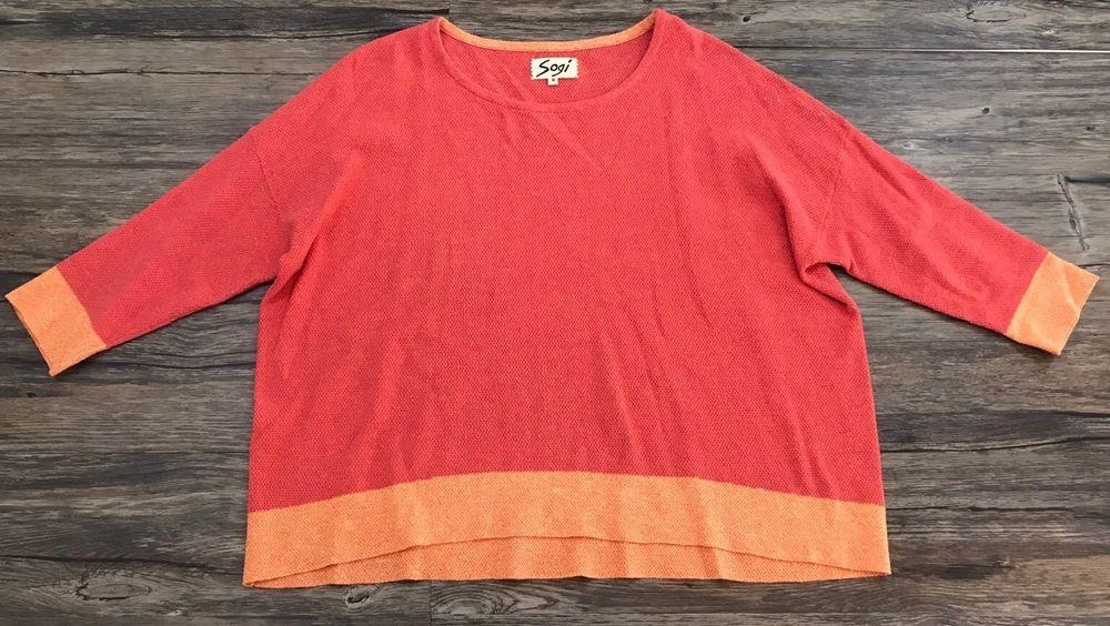 Soji Knit Sweater Quarter Sleeve Top Womens Sz S* #Soji #KnitTop