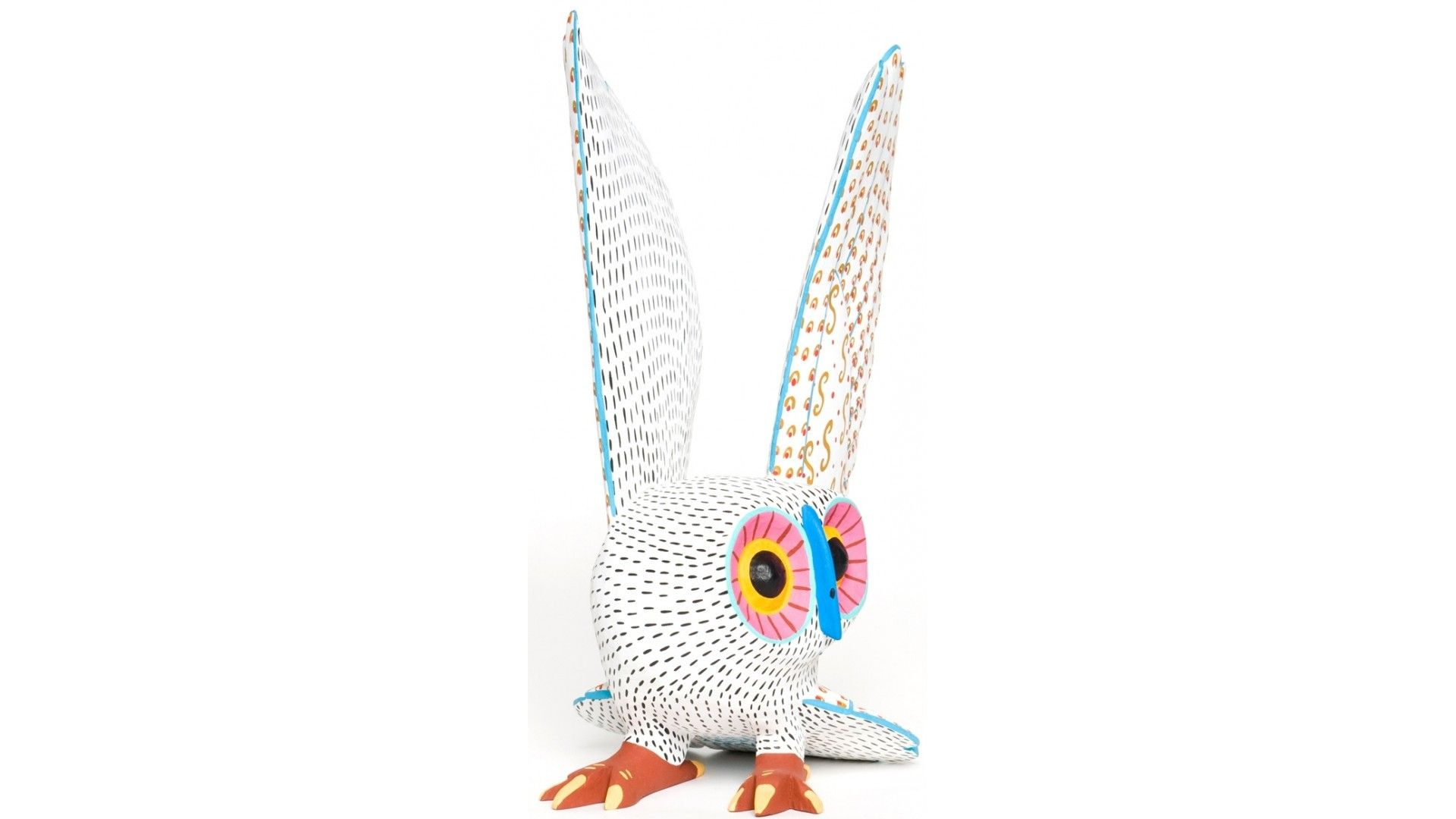Alebrije owl carving owl carved and painted by armando jiminez