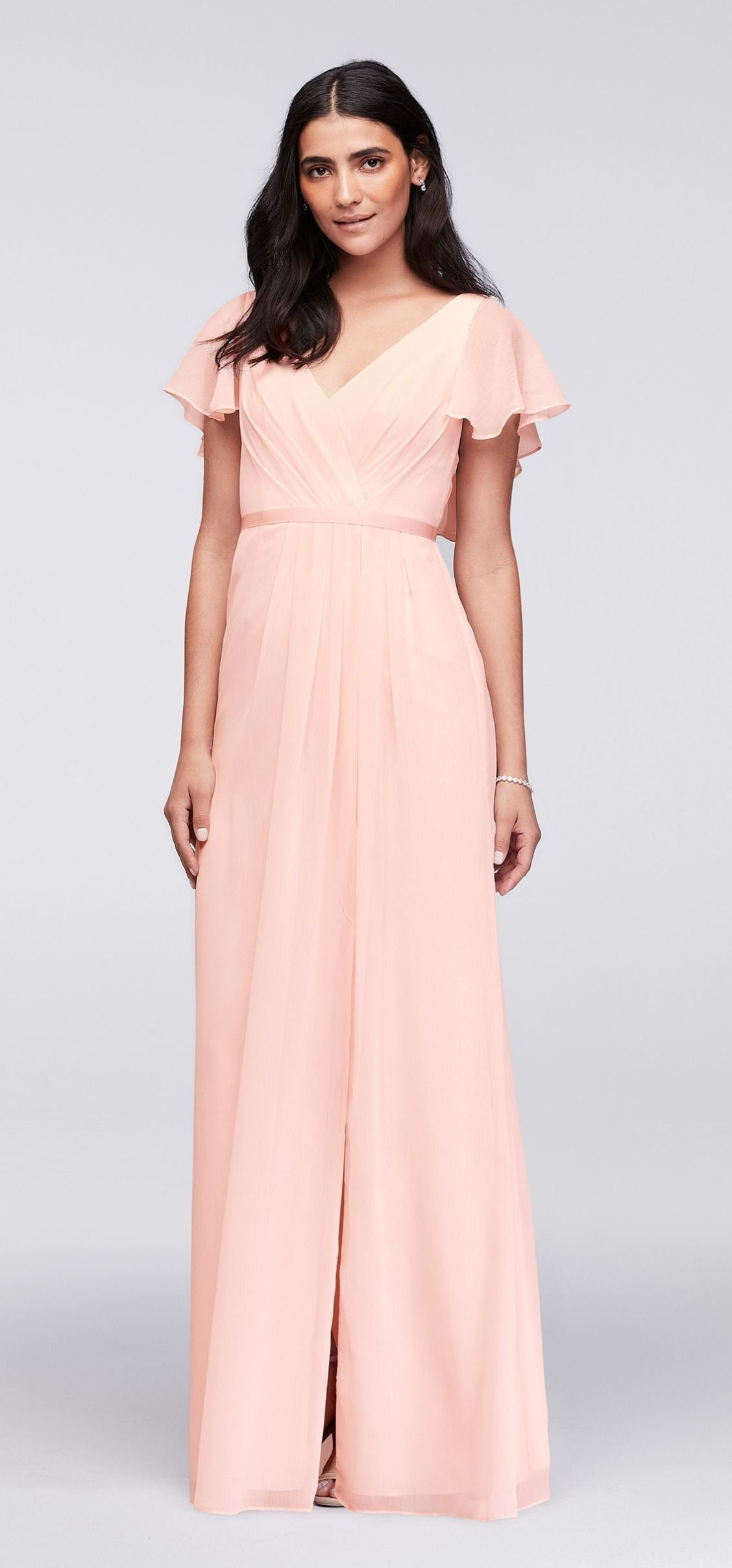 A simple bridesmaid dress for an intimate wedding ceremony, this ...