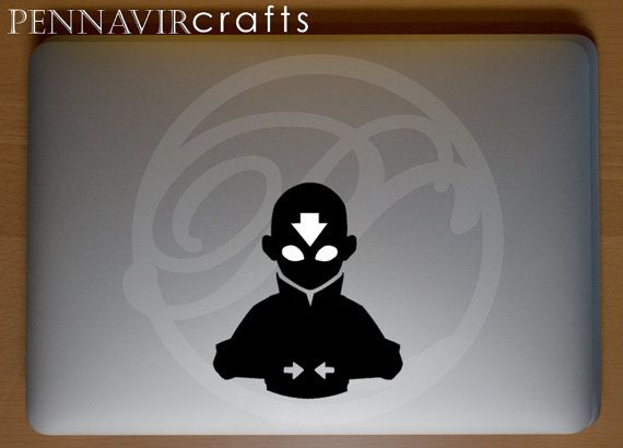 Avatar the last airbender decal aang in the by pennavircrafts
