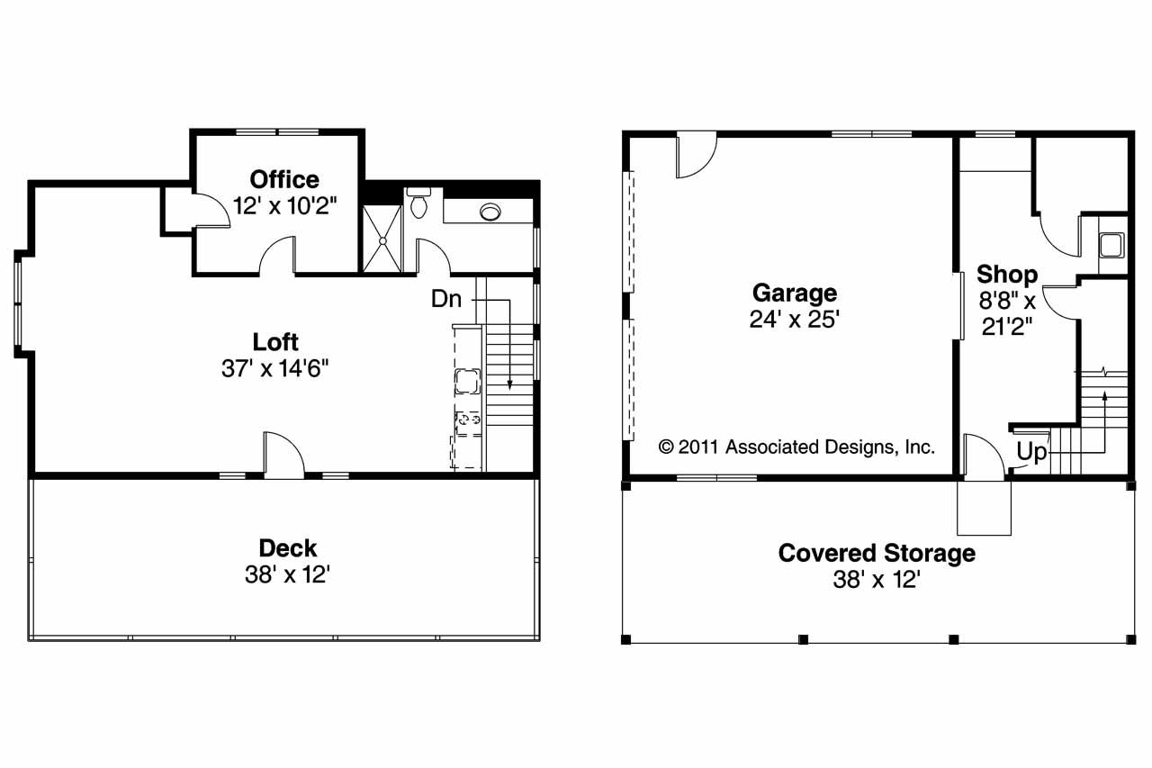 Car Garage Floor Plan: Garage Plan 20-061 - Floor Plan
