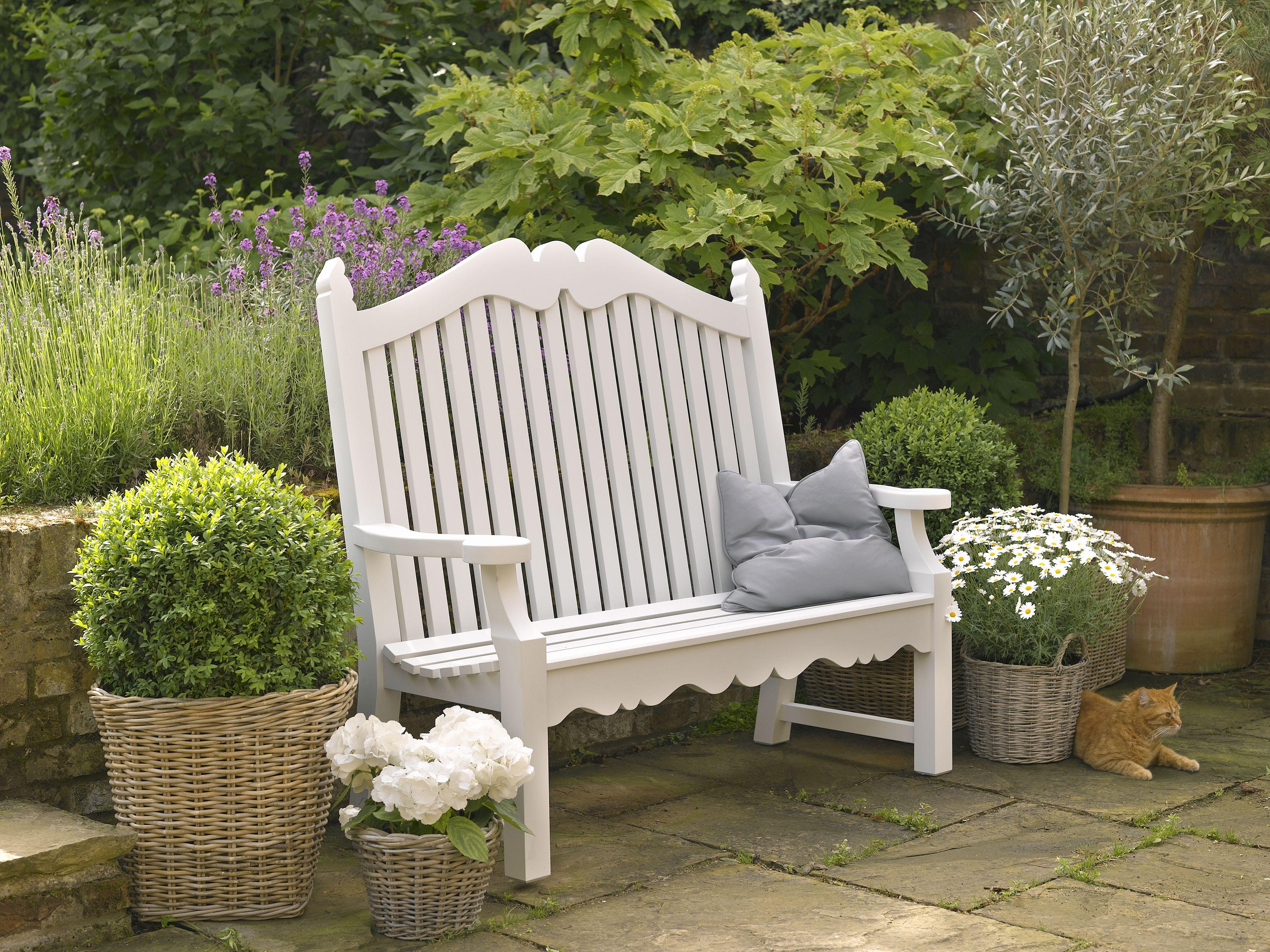 Hand Painted Garden Bench