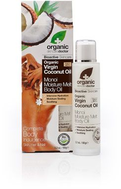 Organic Doctor Virgin Coconut Oil Monoi Moisture Melt Body Oil Organic Doctor Body Oil Virgin Coconut Oil