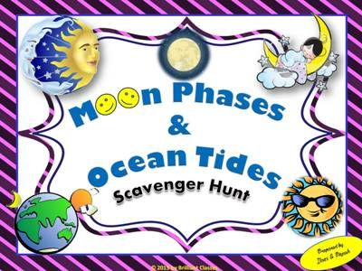 Moon Phases and Ocean Tides Scavenger Hunt | Moon phases ...