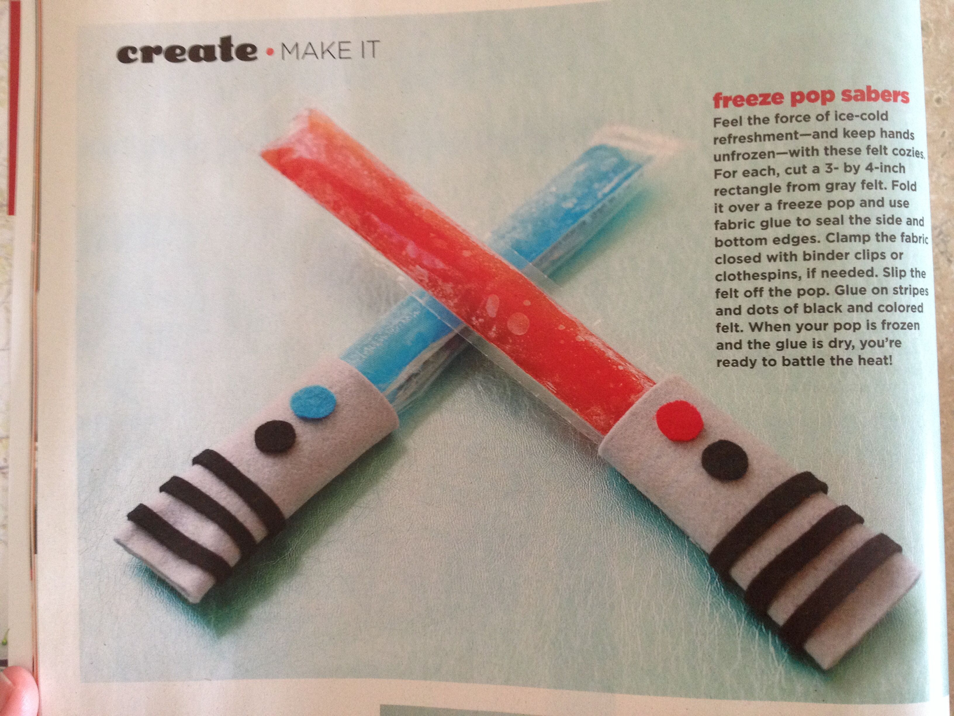 Light saber freeze pops! Yes Please!!!